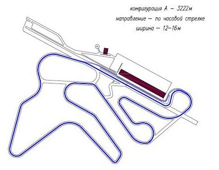 Circuit a 3 222 km long